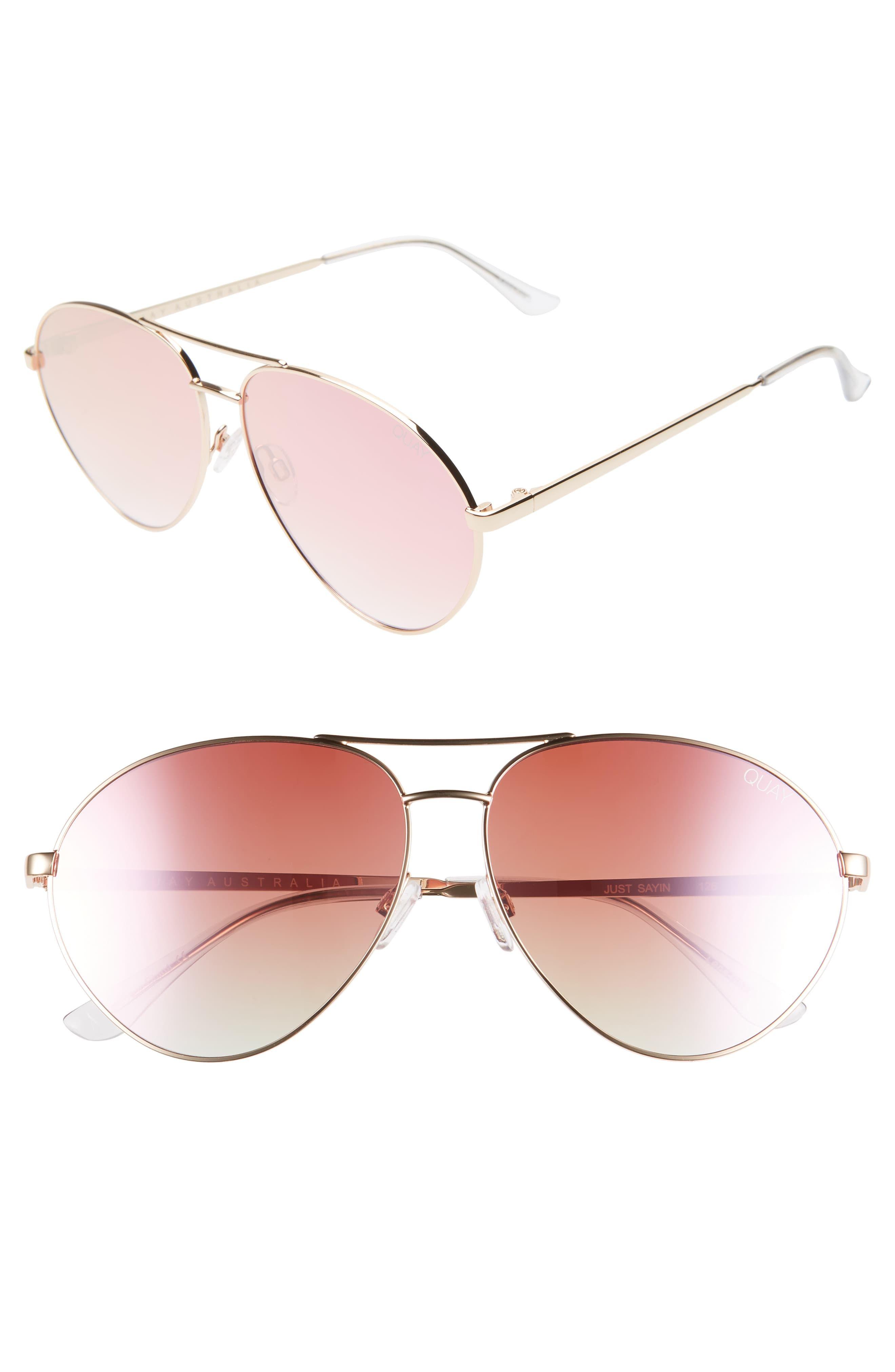 Quay Australia Just Sayin 59mm Aviator Sunglasses