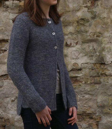 Hortensia Simple Garter Cardigan Free Knitting Pattern ...