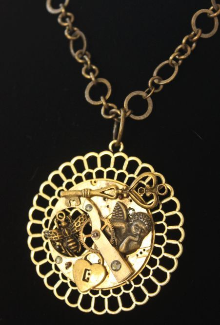 Brass Bronze Steampunk Vintage Pocket Watch by TheTinmansCellar