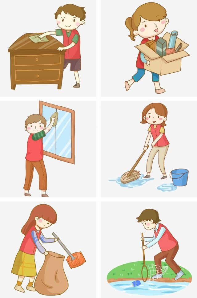 Volunteer Community Service Cleaning And Cleaning Cleaning Png And Psd Community Service Cleaning Cartoon Volunteer