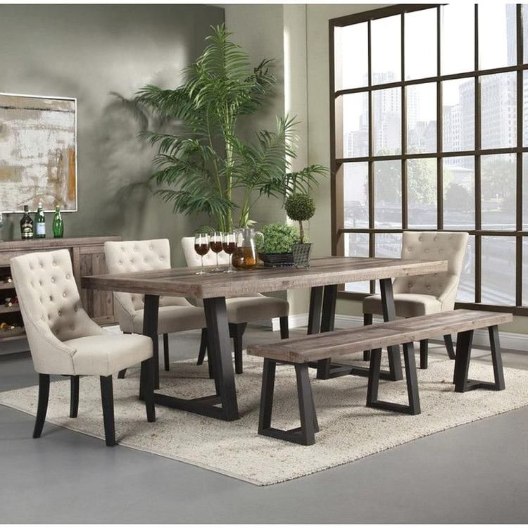 27+ Modern farmhouse dining set with bench Inspiration