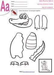 Aa Alligator Craft Worksheet Animal Crafts Animal Crafts For