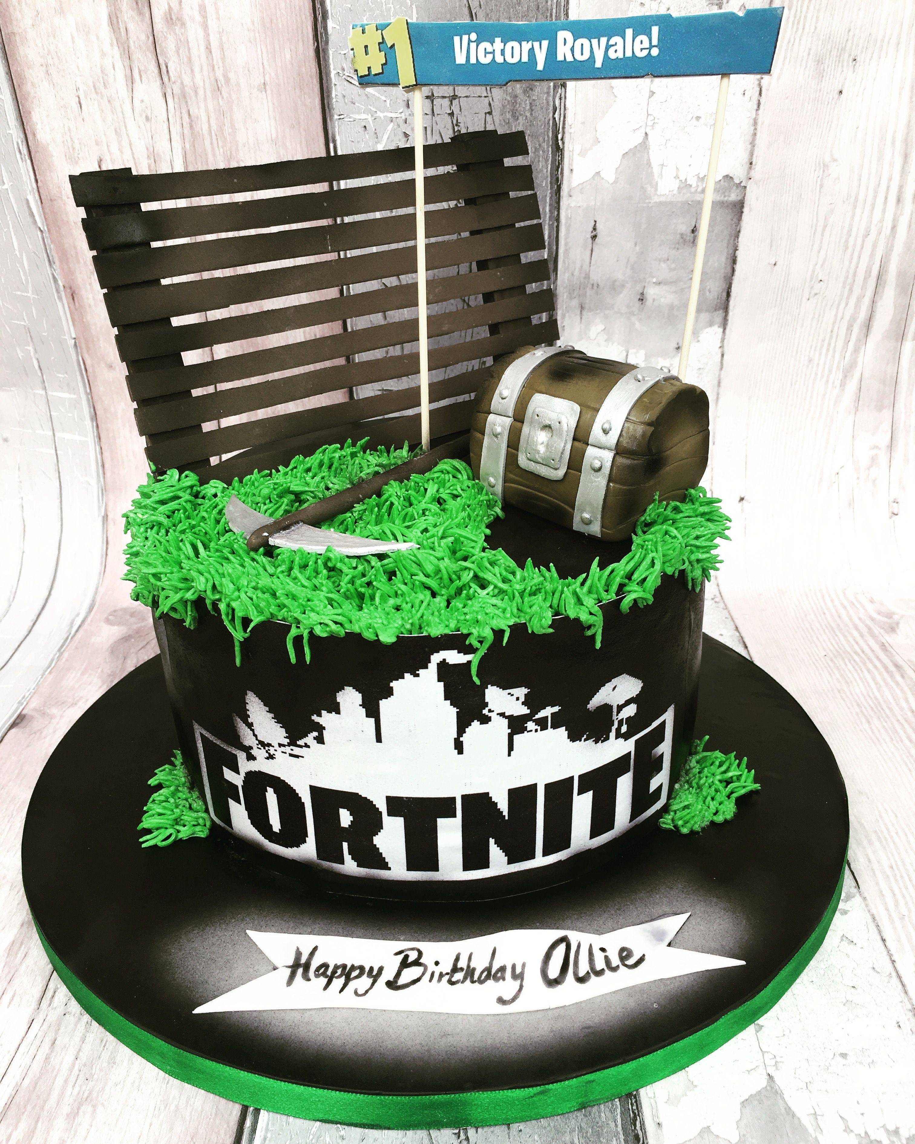 Fortnite Cake With Images Birthday Cake Kids Boy Birthday