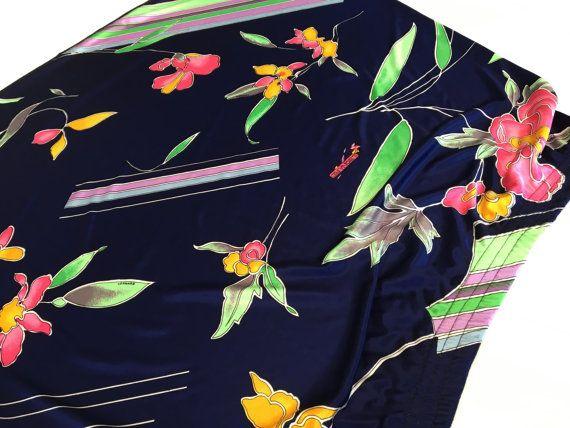 Decadence Fashion Vintage 1970s Robe Pastel Floral Boho Maxi Lounge Dress 70s Hippie Mod MuuMuu Flower Watercolor Print Long Sleeve Small s