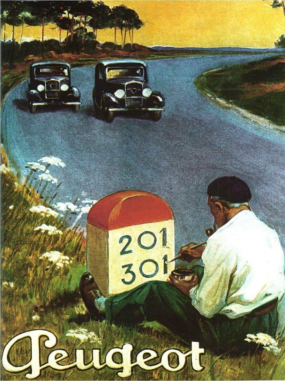 peugeot 201 301 ad poster pub anciennes peugeot automobile et voiture. Black Bedroom Furniture Sets. Home Design Ideas