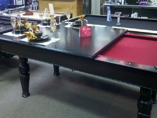 Pool Table With An Optional Table Tennis Dining Conversion Top That Dining Room Pool Table Pool Table Pool