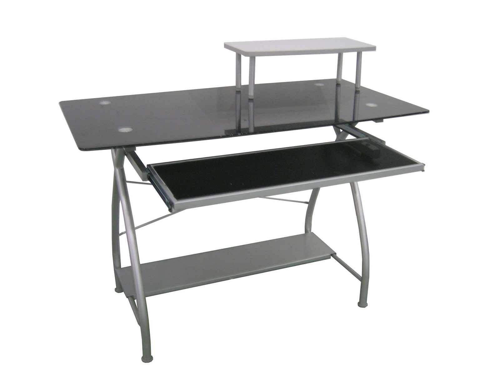 Top Glass Office Metal Computer Desk Blackglassofficedesk Computer Desk Glass Metal O In 2020 Cool Office Desk Metal Computer Desk Glass Desk Office