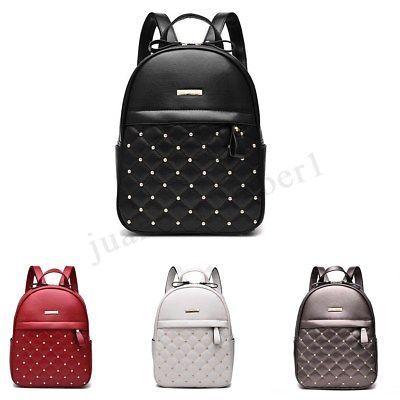 b56f80c21f Zaino Donna Ragazza Pelle Zainetto Borsa Spalla Scuola Viaggi Backpack Bag