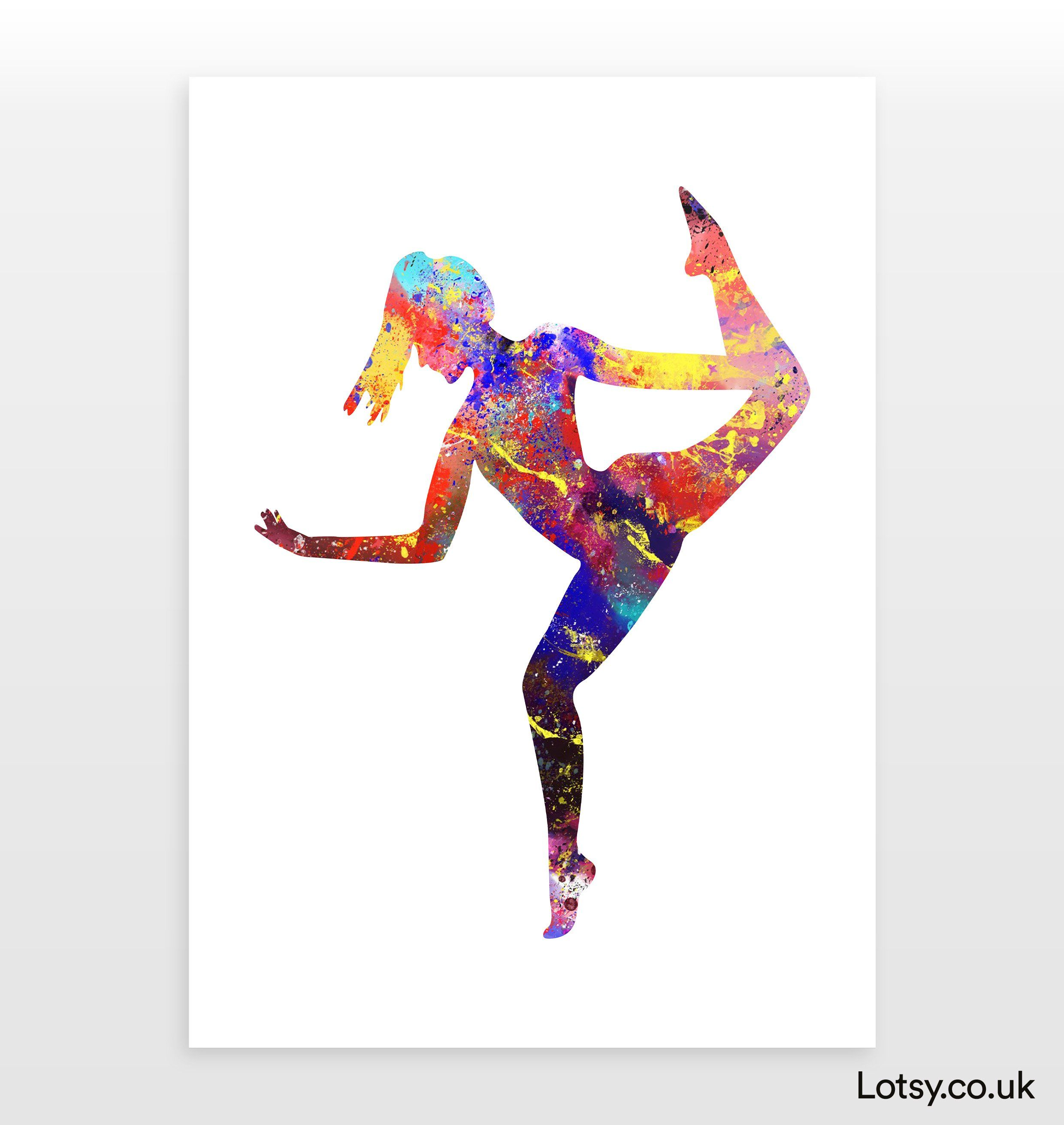 Ballet Quote - Woman ballet spin 2 - 40 x 60