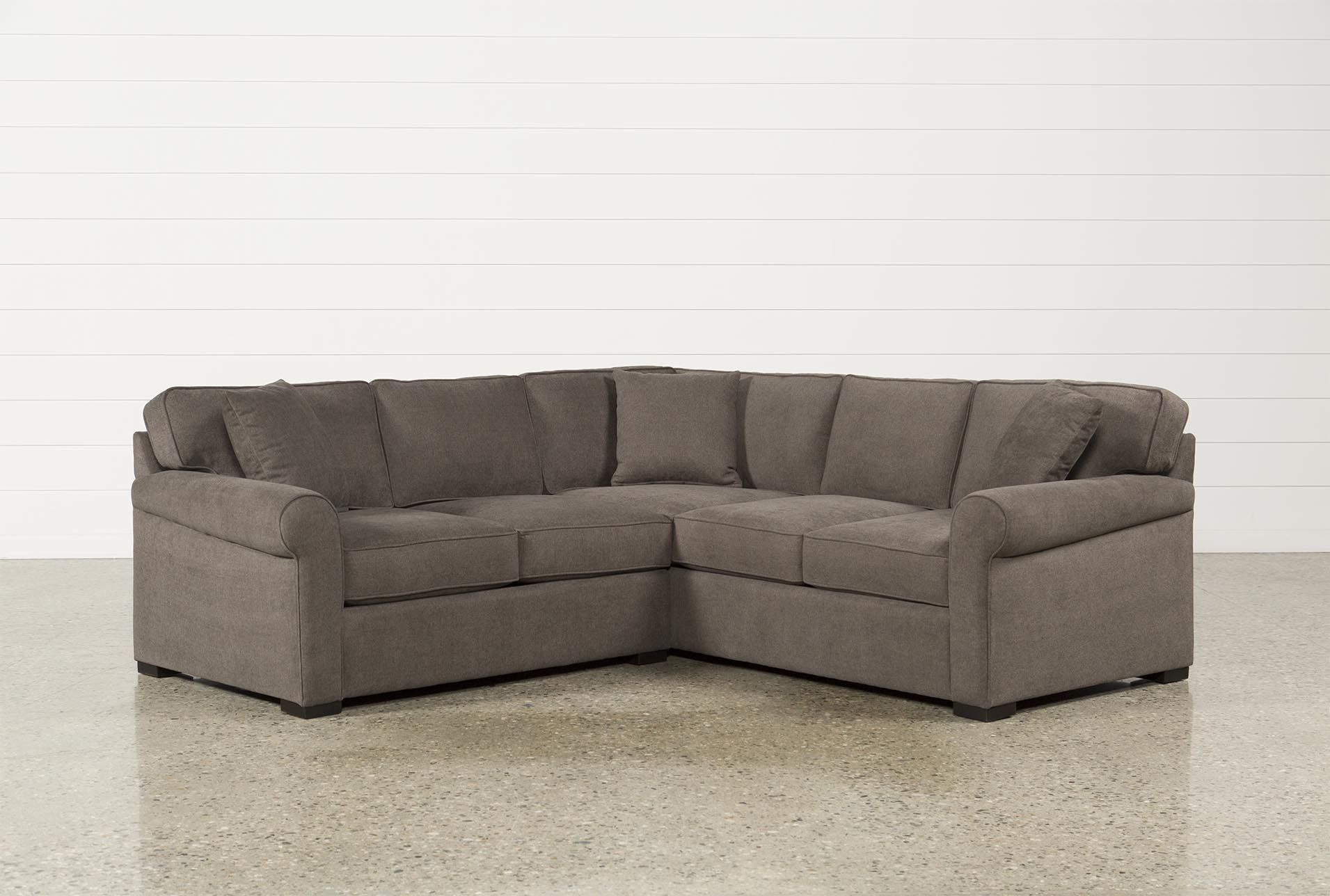 Elm Grande 2 Piece Sectional Grey Sofas Products Sectional