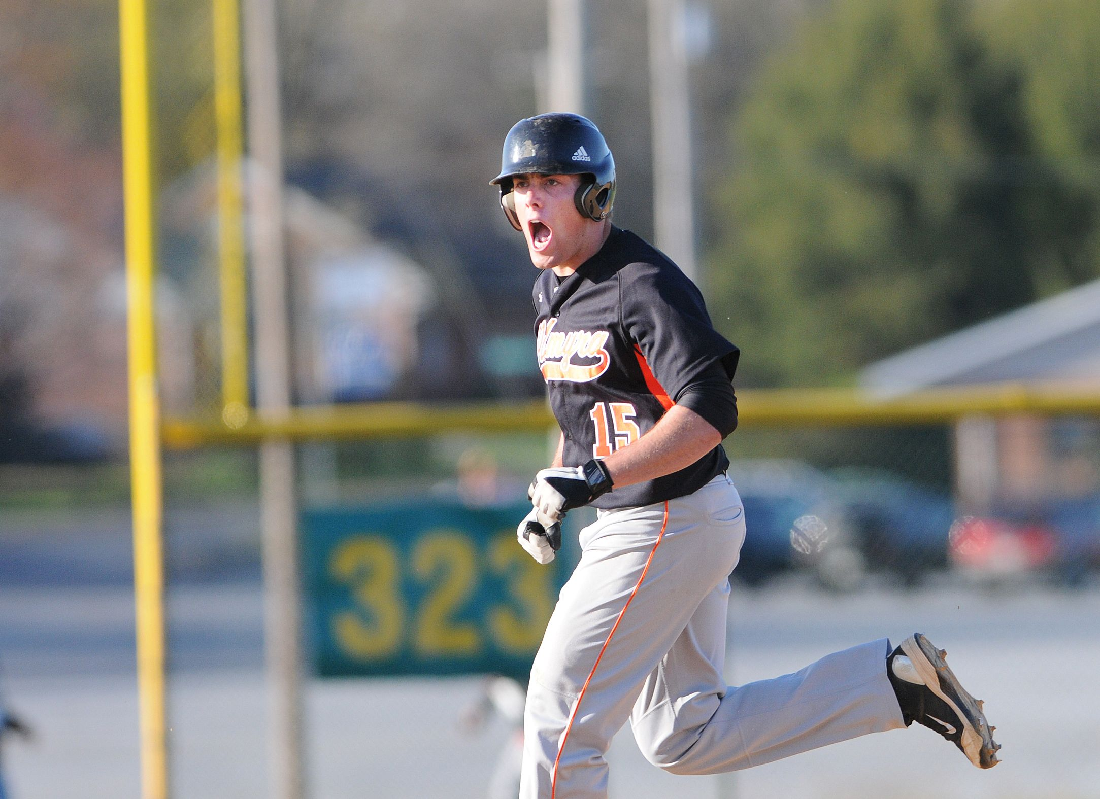 Palmyra's Nick Slobozien as he rounds the bases after