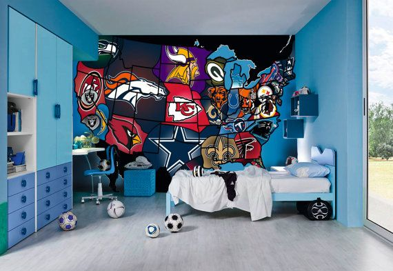 american football wall mural Google Search Boys room Pinterest