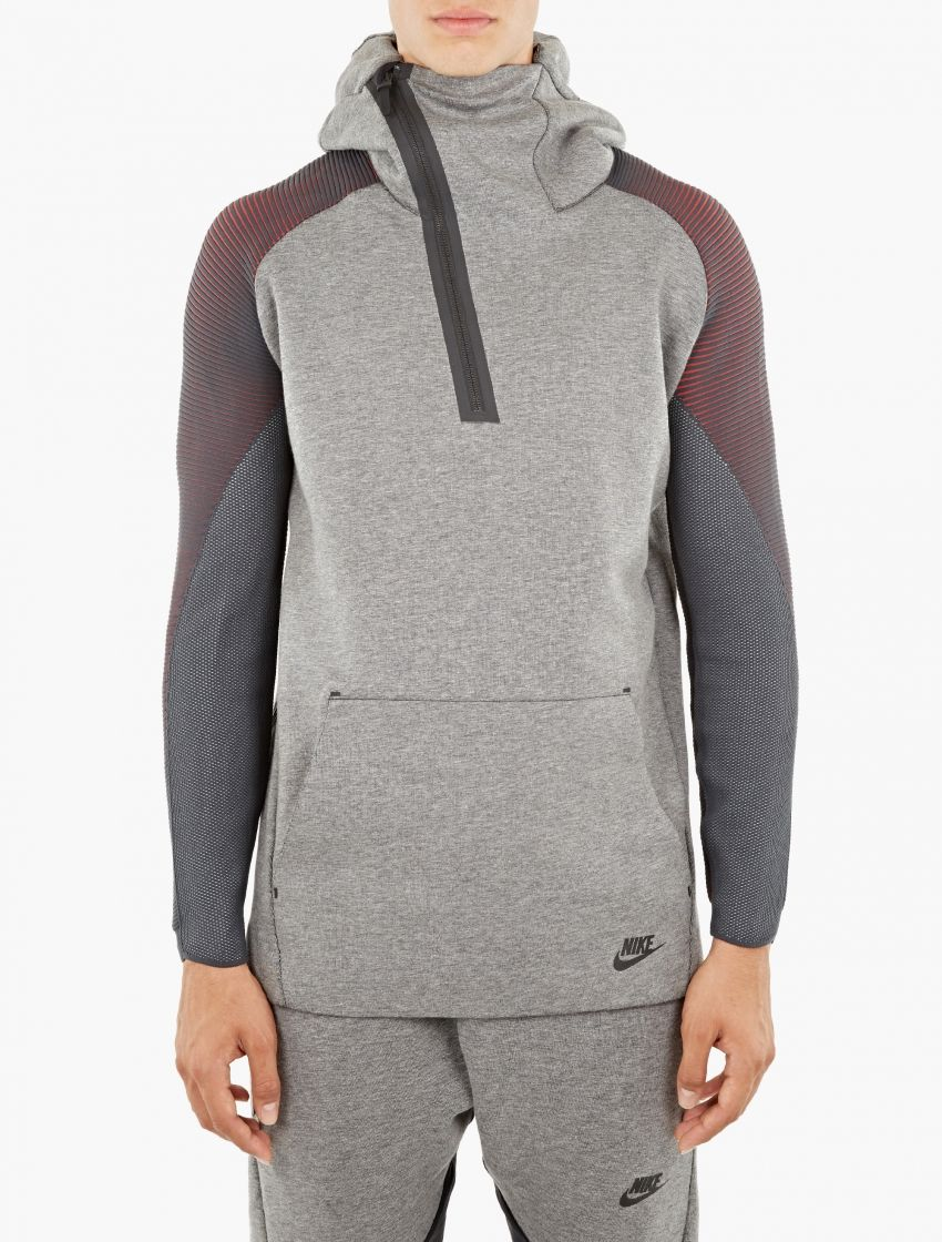 Nike | Grey Sportswear Tech Fleece Hoodie | Nike present this ...