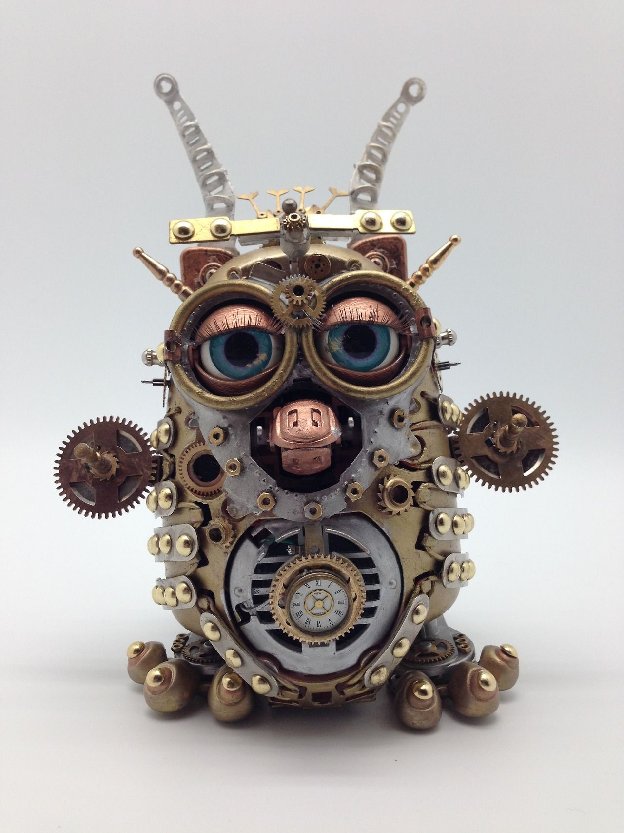 Steampunk Furby. Our next steampunk furby is almost finished.