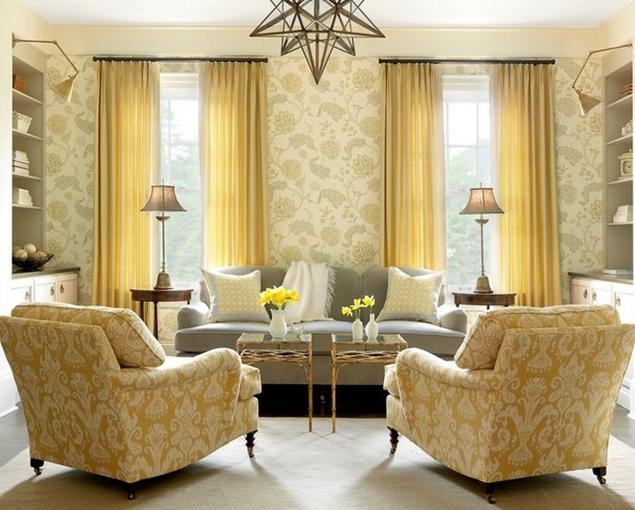 Yellow-Family-Room-Decorating-With-Curtain-Ideas.jpg (900×723 ...