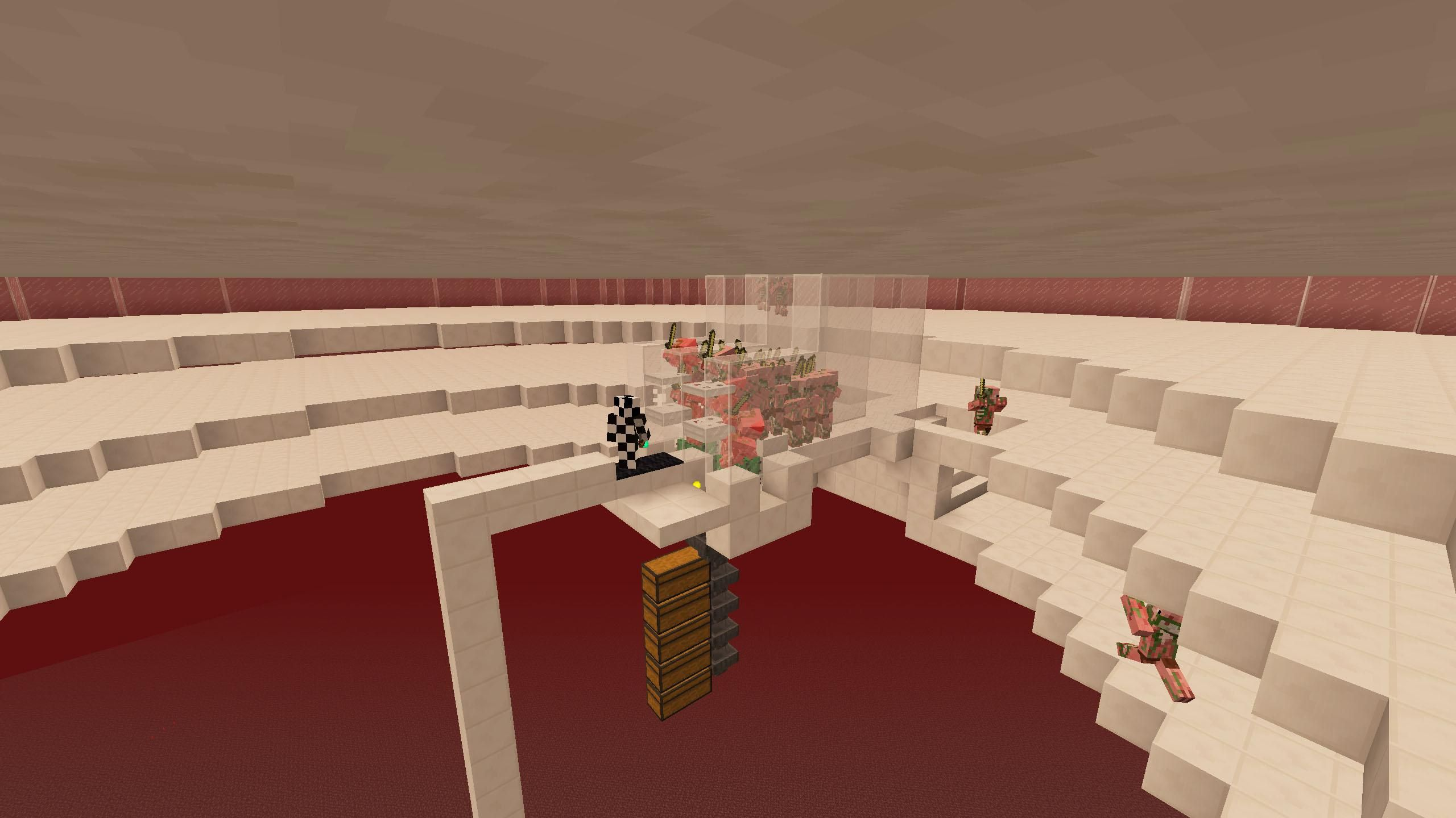 Simple afk gold and xp farm (no redstone) | Minecraft | Pinterest