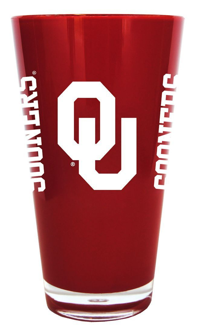 Oklahoma Sooners 20 oz Insulated Plastic Pint Glass