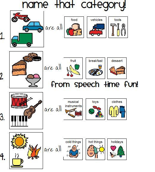 image result for name that category worksheet speech lang speech language therapy speech. Black Bedroom Furniture Sets. Home Design Ideas