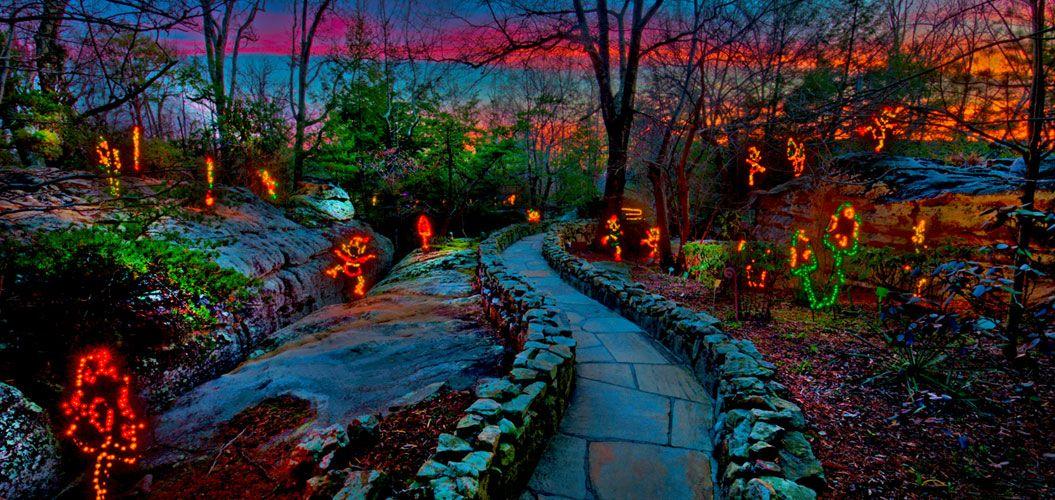 Enchanted garden of lights lookout mountain rock city christmas activities to do with the
