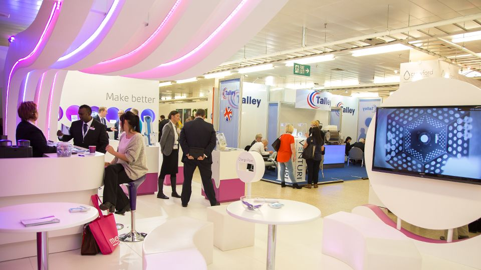 Envisage Exhibition Stand Design And Build Uk : Custom exhibition stand design by envisage at wounds uk for acelity