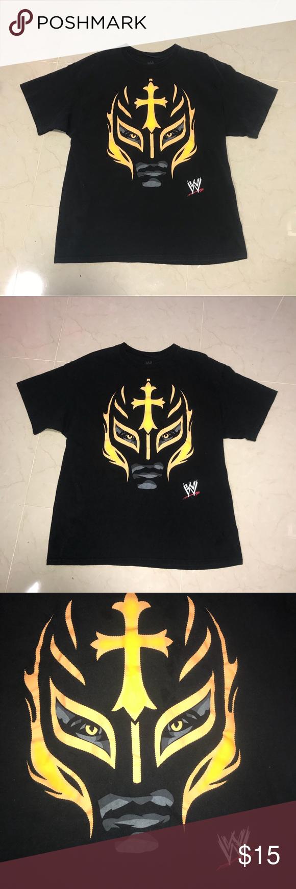 Rey Mysterio Wwe Orange Mask Shirt Xl Cool Shirt With Rey Orange Mask Shirts Tees Short Sleeve Mysterio Wwe Cool Shirts Shirts