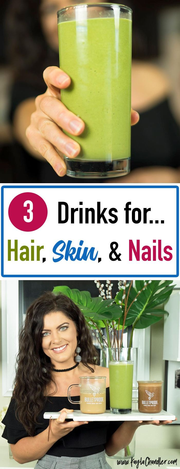 3 Collagen Drinks For Hair Skin Nails Healthy Skin Healthy Hair Collagen Drink Detox Smoothie Whole Food Recipes