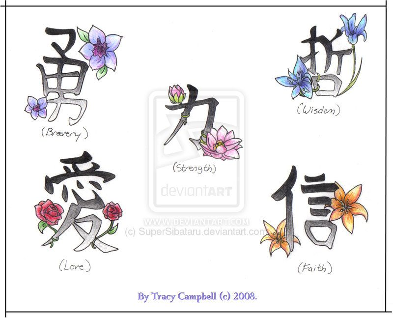Japanese Flower Tattoos And Meanings | Flower Symbols By Supersibataru On Deviantart - Free Download Tattoo ...