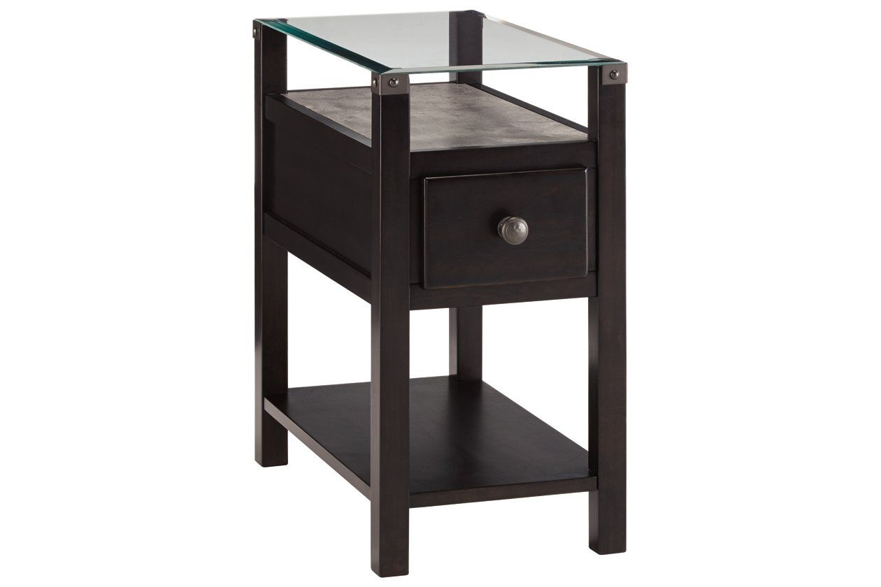 Diamenton Chairside End Table With Usb Ports Outlets In 2020