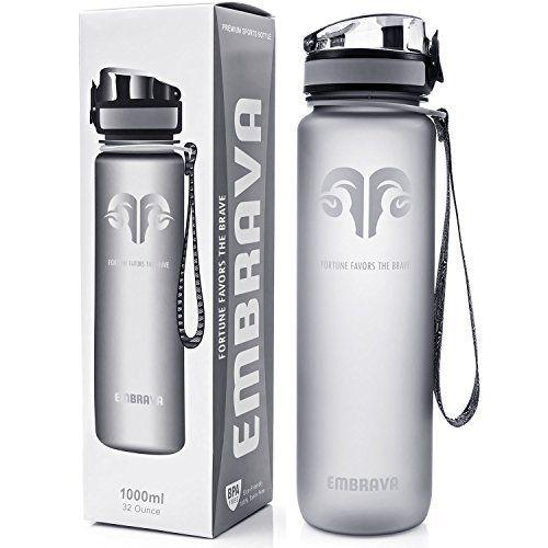 Best Sports Water Bottle - 32oz Large - Fast Flow Flip Top Leak Proof Lid w/ One Click Open - Non-Toxic BPA Free & Eco-Friendly Tritan Co-Polyester Plastic