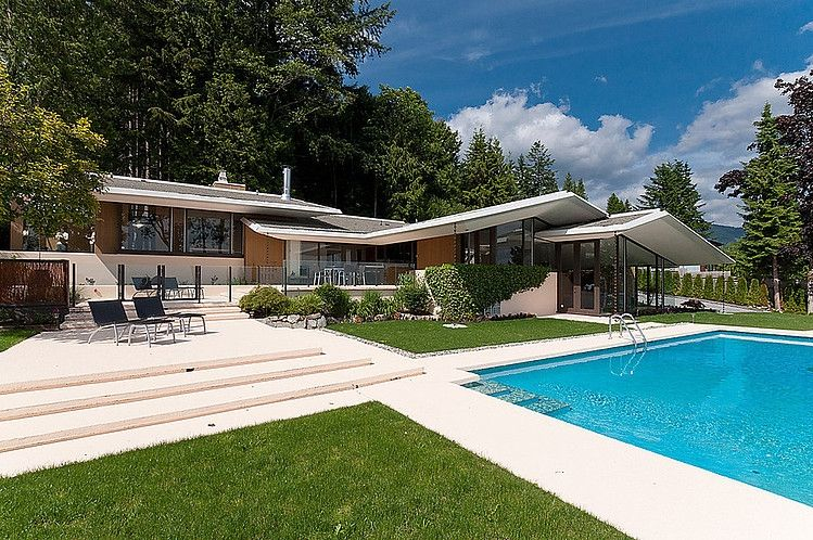 Mid century modern home by ron thom architecture pinterest mid century modern mid century - Mid century modern homes ...