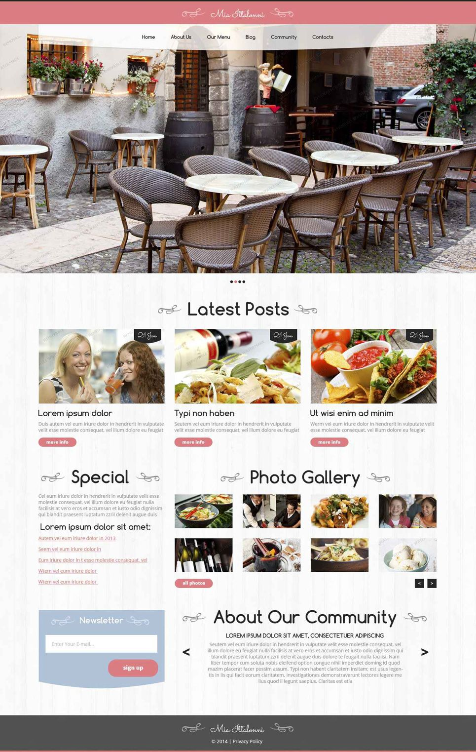 Mia Ittalonni - Wordpress Restaurant Theme | Wordpress theme ...