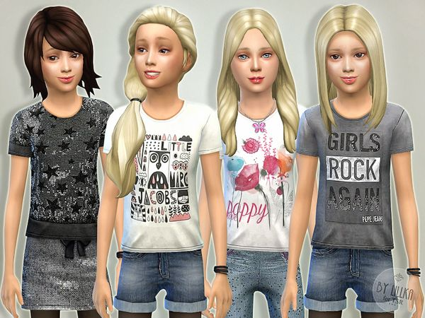 The Sims Resource: T- Shirt Collection GP04 by lillka • Sims 4 Downloads