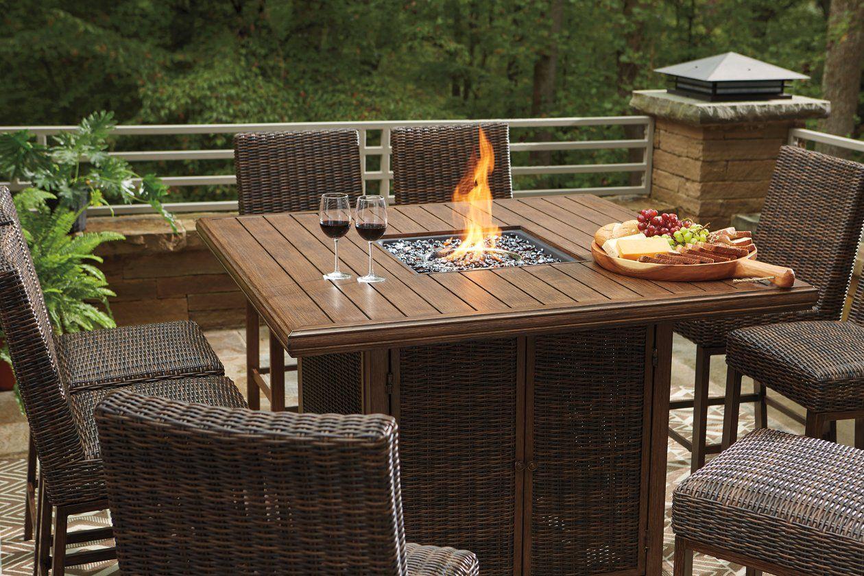 18++ Indigo 7 piece woven fire dining set Best Seller