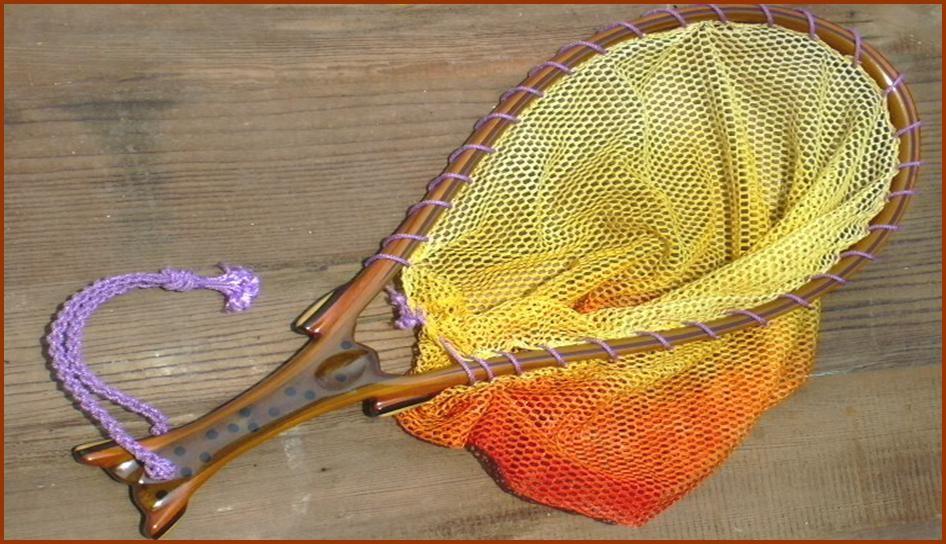 custom wood fly fishing landing net #17 in olive green poplar, Fishing Reels