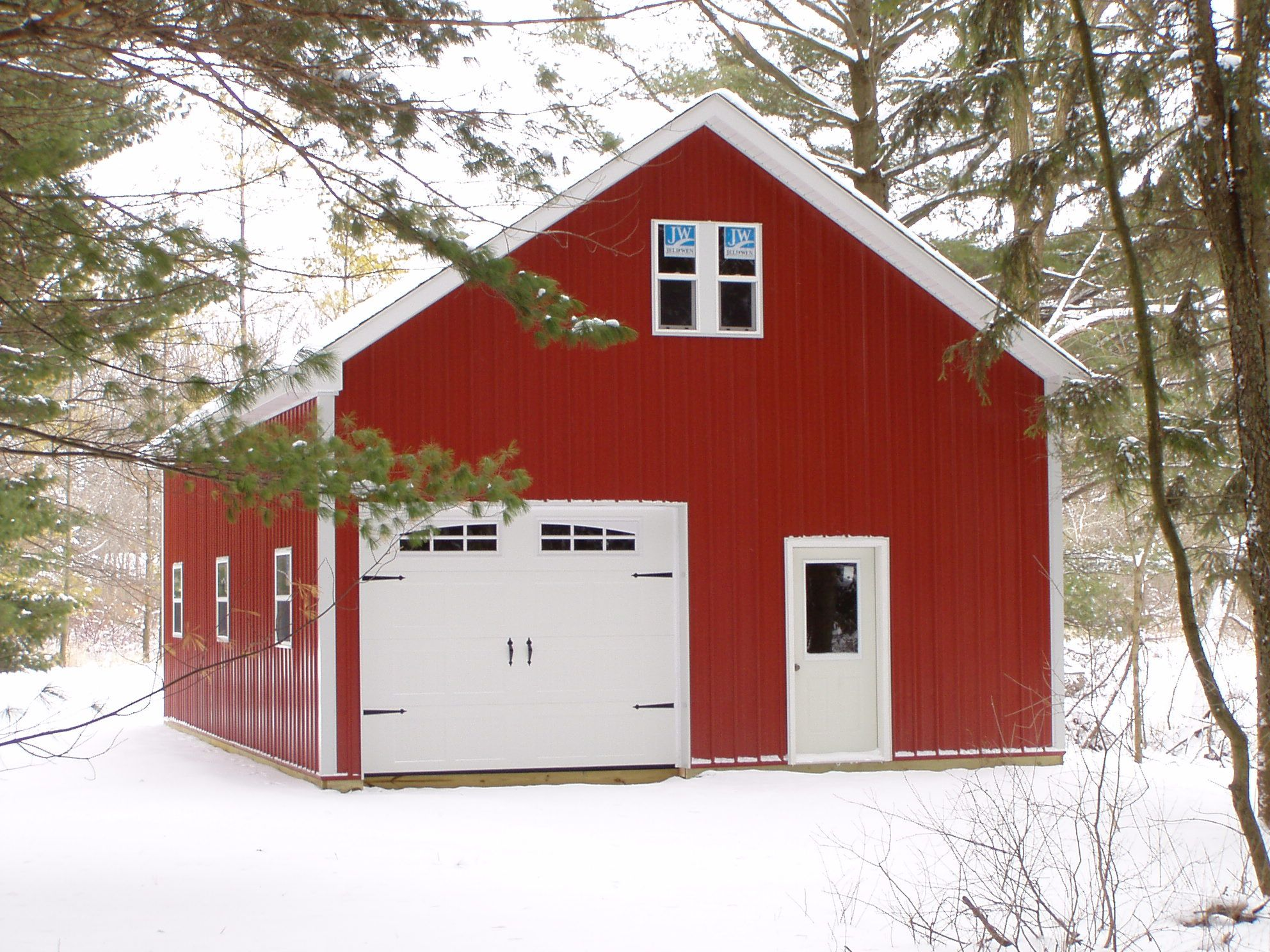Pole Barn Doors With 2nd Floor Loft And Staircase
