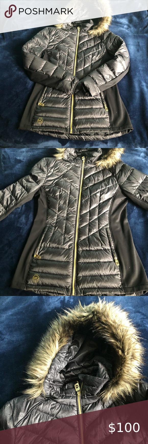 Nwot Michael Kors Puffer Jacket With Faux Fur Michael Kors Michael Kors Jackets Puffer Jackets [ 1740 x 580 Pixel ]