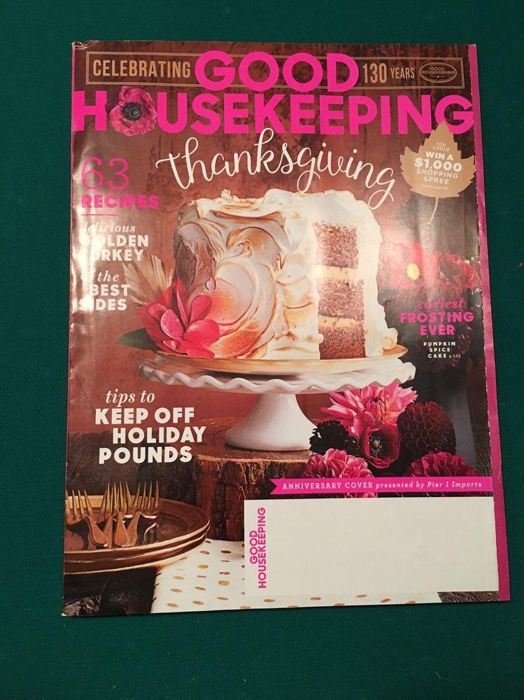 GOOD HOUSEKEEPING  Magazine - Thanksgiving Issue,  63 Recipes - November, 2015