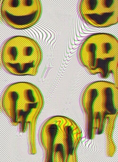 I Love The Whole Trend Of Virtual Things Looking Like Theirs Melting Trippy Iphone Wallpaper