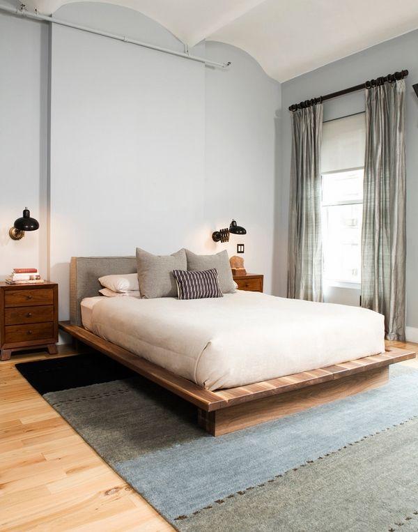 muebles de ideas de diseño cama dormitorio cabecera tapizada ...
