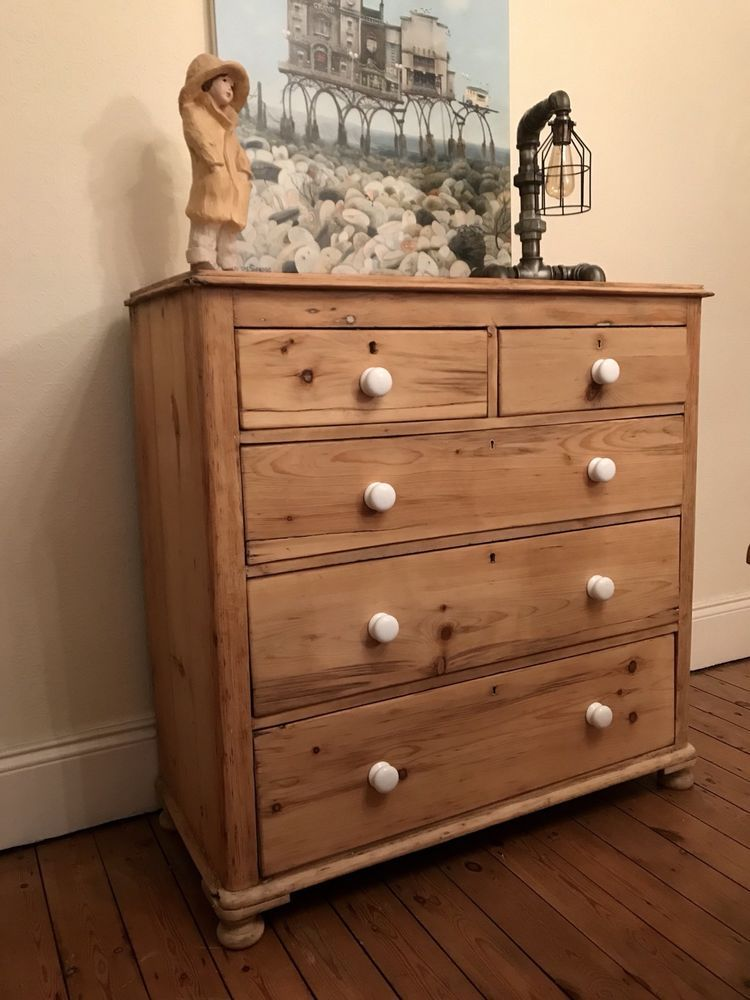 the latest ed1a1 c1c85 Beautiful old Victorian pine chest of drawers 2 over 3 ...