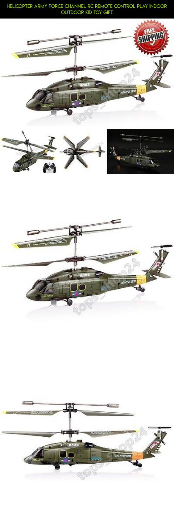 Helicopter Army Force Channel RC Remote Control Play Indoor Outdoor