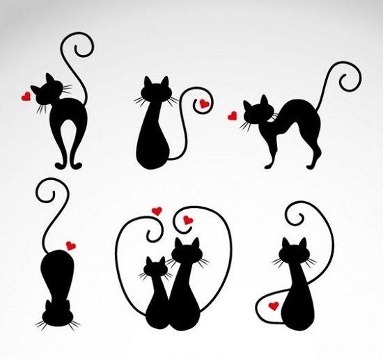 plantillas- para- tatuar -gatos