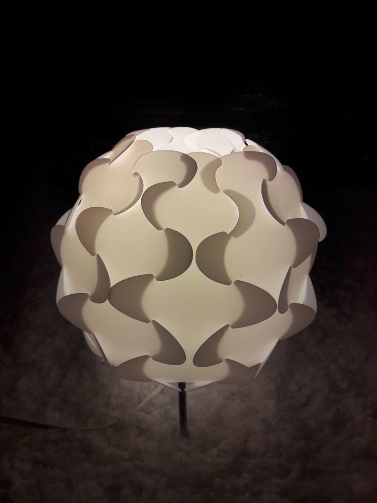 Ikea White Plastic Puzzle Table Lamp Soft Light Modern Lighting Fillsta Euc Used Ikea Modern Table Lamp Lamp Soft Lighting