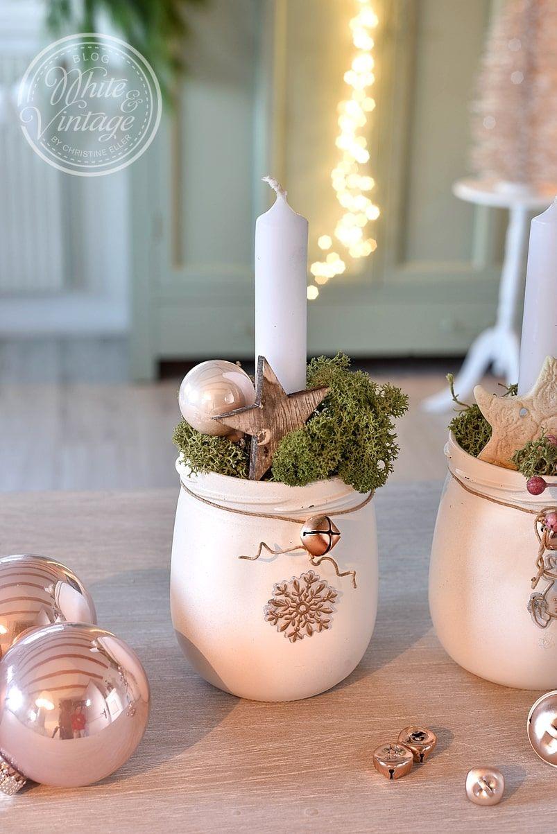 Weihnachtsdeko Aus Altglas Selbermachen Vintage Deko Weihnachten Basteln Weihnachten Glaser Weihnachten Dekoration Diy