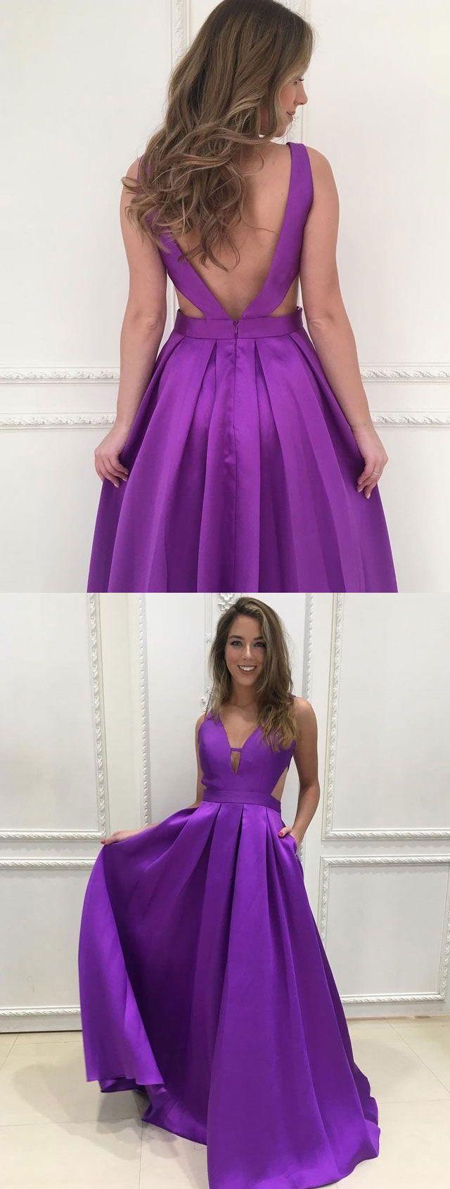 Long purple prom dresses womenus prom dresses backless prom