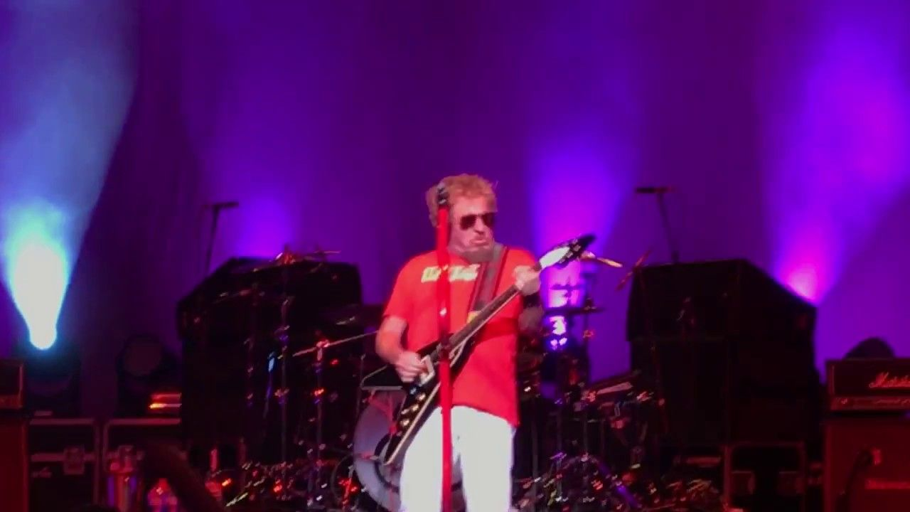 Sammy Hagar Circle Theres Only One Way To Rock Pavillion Toyota Music Park West Chicago Music Factory Scottish Bands