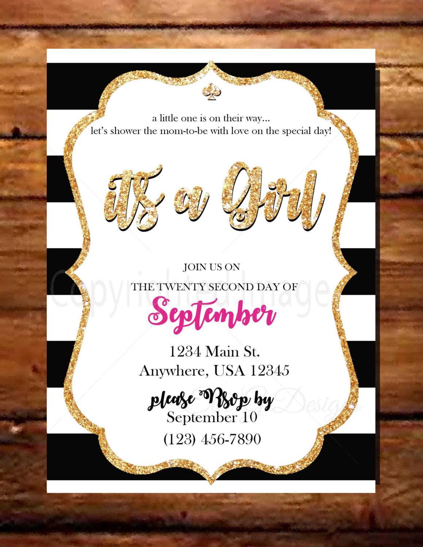 Kate Spade inspired Baby Shower Invitation by ElleGDesignsUSA on ...