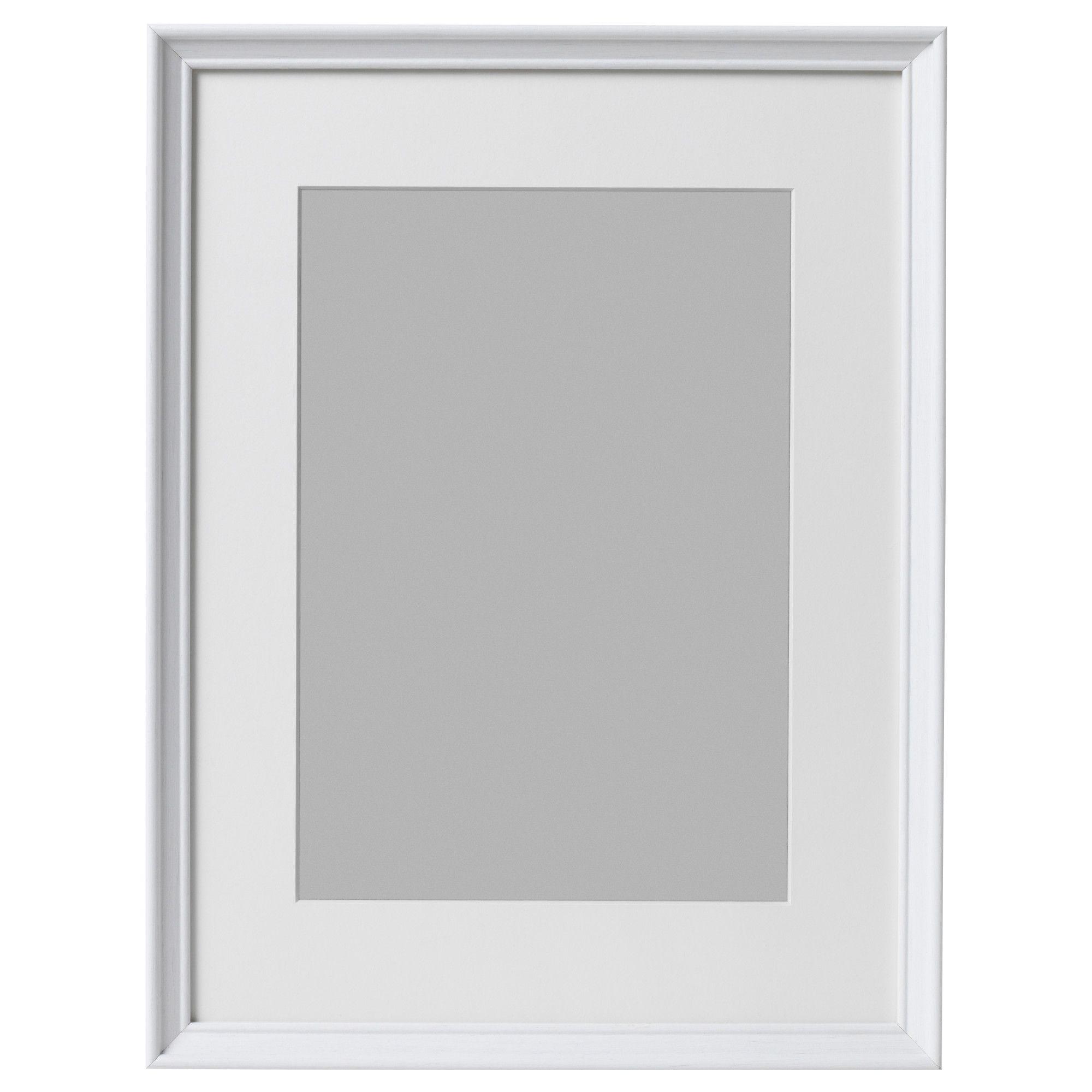 KNOPPÄNG Frame, white stained   Rahmen dekoration, Rahmen und Medium