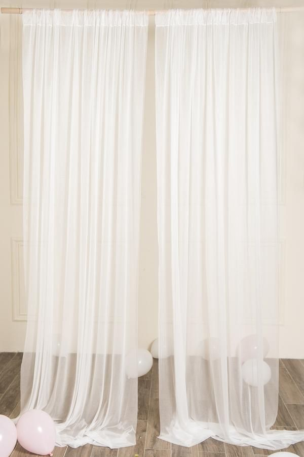 White Sheer Wedding Backdrop Curtains 10 Ft X 10 Ft In 2019 My