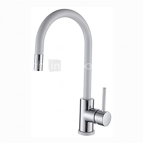 Warpeu® Contemprorary White Painting Single Handle Kitchen Sink Faucet Mixer - USD $94.99